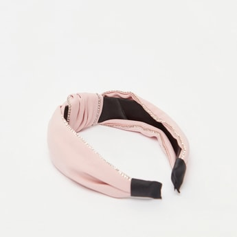 Embellished Hairband with Twisted Knot Accent