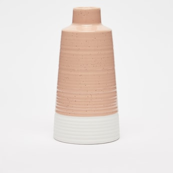 Decorative Ceramic Colour Block Vase - 18x9 cms