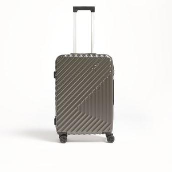 شنطة سفر ترولي صلبة بارزة الملمس بمقبض قابل للسّحب - 43x26x66 سم
