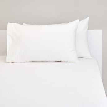 Solid Rectangular 2-Piece Pillowcase Set - 75x50 cms
