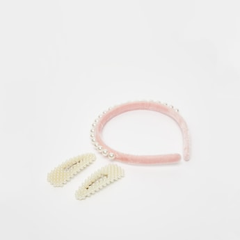 Pearl Detail 3-Piece Hair Accessory Set