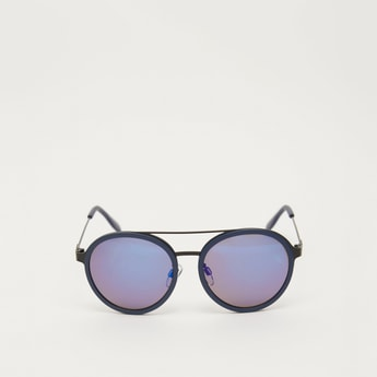 Plastic Round Sunglasses with Nose Pads