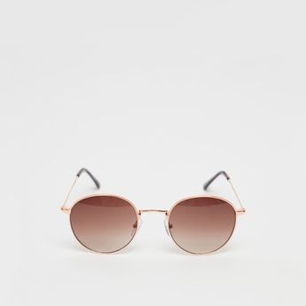 نظارة شمسية مستديرة سادة معدنية
