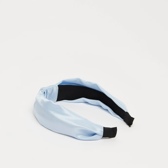 Solid Hairband with Knot Detail