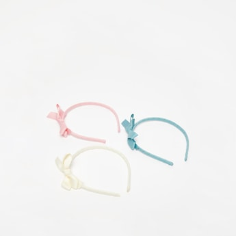 Pack of 3 - Patterned Hairband with Bow Applique Detail