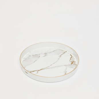 Round Marble Print Tray