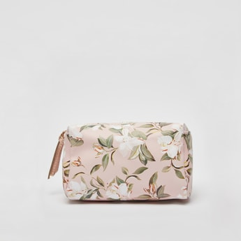Floral Print Pouch with Wrist Loop