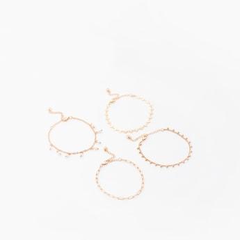Set of 4 - Assorted Textured Bracelet