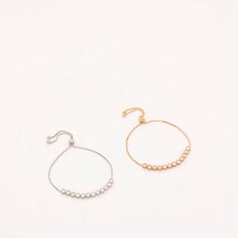Set of 2 - Studded Bracelet with Drawstring Closure