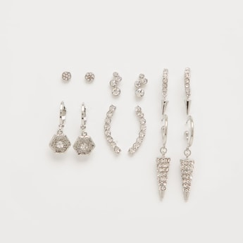 Pack of 6 - Assorted Studded Earrings