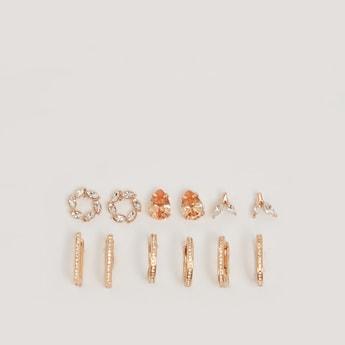 Set of 6 - Studded Earrings