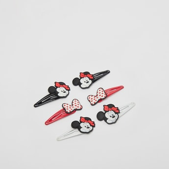 Set of 3 - Minnie Mouse Applique Detail Hairpins