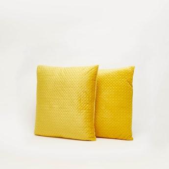 Textured 2-Piece Filled Cushion Set - 43x43 cms