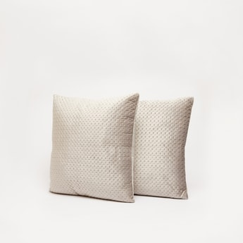 Patterned 2-Piece Square Filled Cushions with Zip Closure - 43x43 cms