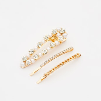 Set of 3 - Studded Hairpins
