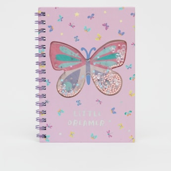 Butterfly Print Notebook with Spiral Binding