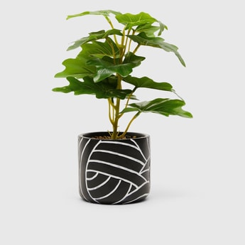 Artificial Plant in Printed Pot