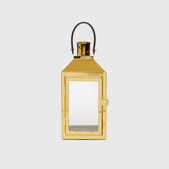 Textured Rectangular Lantern with Handle