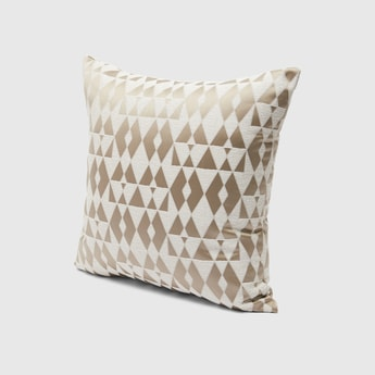 Filled Jacquard Cushion with Zip Closure - 43x43 cms