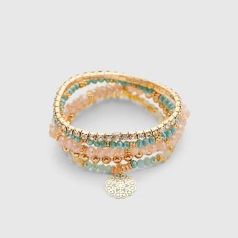 Set of 5 - Assorted Beaded Bracelets