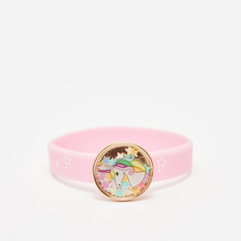Unicorn Applique Detail Wrist Band