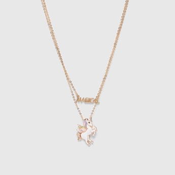 Unicorn Multi-Layer Necklace with Lobster Clasp Closure