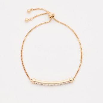 Stone Studded Bracelet with Drawstring Closure