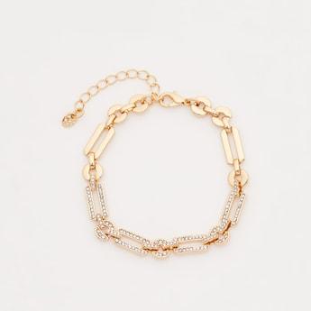Stone Studded Link Bracelet
