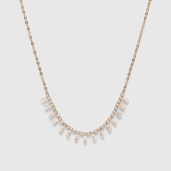 Embellished Short Necklace with Lobster Clasp Closure