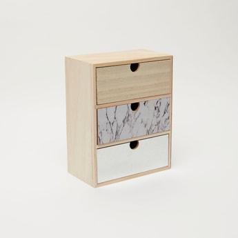 Wooden 3-Drawer Cabinet