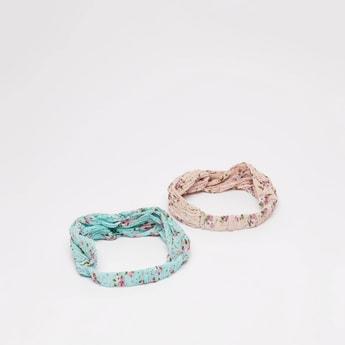 Set of 2 - Floral Printed Headband