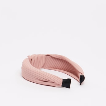 Textured Hairband with Knot Detail