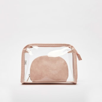 Textured 2-Piece Travel Pouch Set