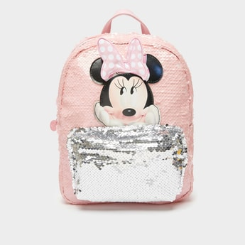 Minnie Mouse Sequin Detail Backpack with Adjustable Straps