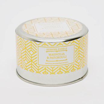 Magnolia & Patchouli Scented Tin Jar Candle