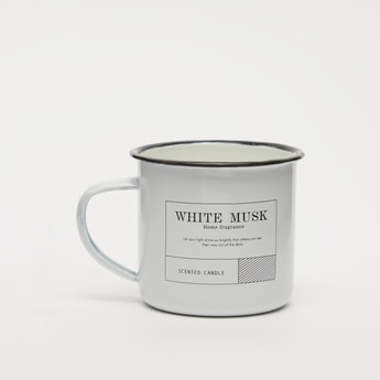 White Musk Scented Jar Candle with Handle