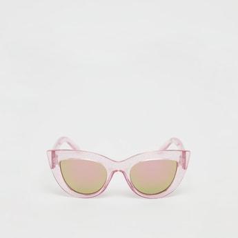 Full Rim Cat Eye Sunglasses with See-Through Frame
