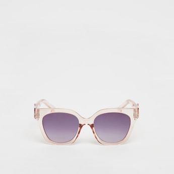 نظارة شمسية ملونة بإطار كامل بتزيينات زهرية