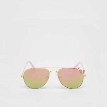 نظارة شمسية أفياتور بتزيينات وإطار معدني
