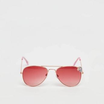 Full Rim Unicorn Applique Detail Sunglasses with Nose Pads