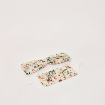 All-Over Floral Print Reusable Mask with Headband