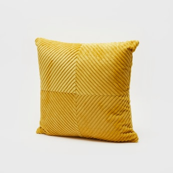 Ribbed Filled Cushion - 45x45 cms