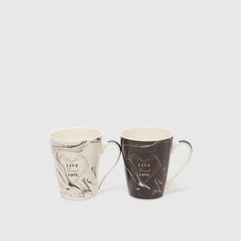 Set of 2 - Printed Mug with Handle