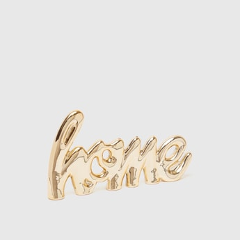 Metallic Home Word Decor