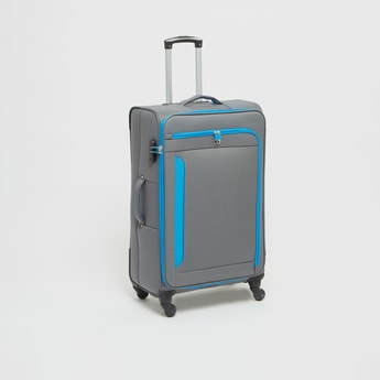 Solid Suitcase with Zip Closure and Handle