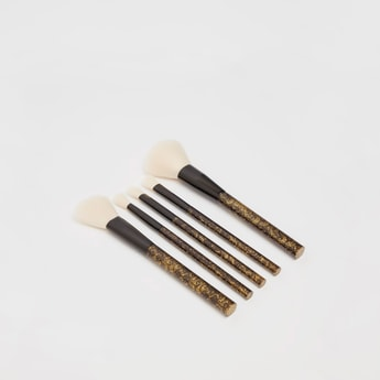 Printed 5-Piece Makeup Brush Set