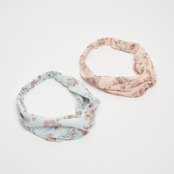 Set of 2 - All-Over Floral Print Headband