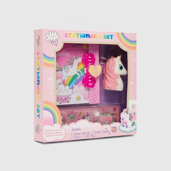 Unicorn Print 5-Piece Stationery Set