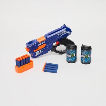 مجموعة لعب مسدس رصاص ناعم يدوي من سوبر شوت