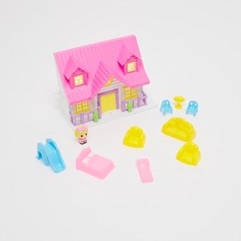 مجموعة لعب بيت الدمى الصغير